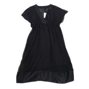 NWT Lane Bryant Black Sheer Dress, Size 14/16W